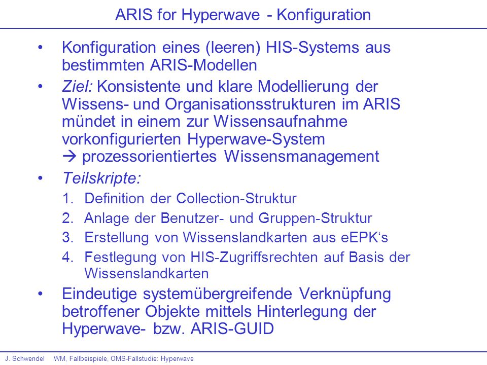 ARIS for Hyperwave - Konfiguration