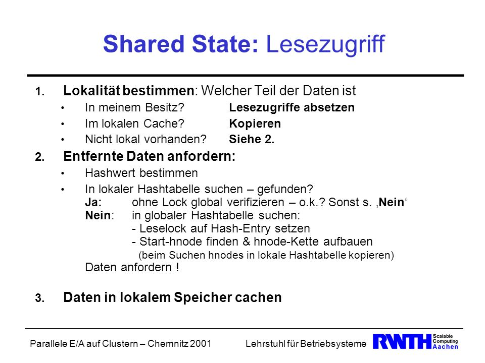 Shared State: Lesezugriff