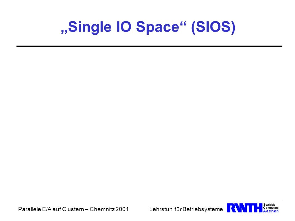 """Single IO Space (SIOS)"