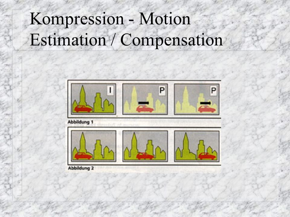 Kompression - Motion Estimation / Compensation