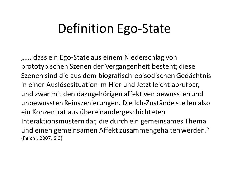 Definition Ego-State