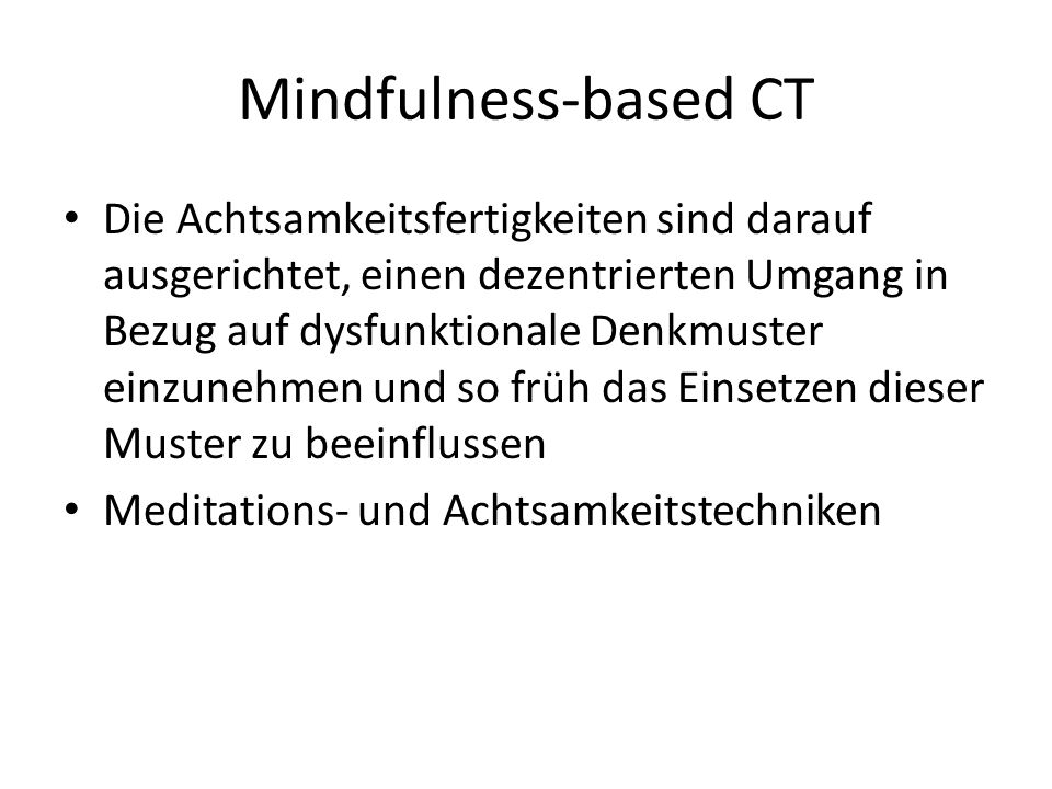 Mindfulness-based CT