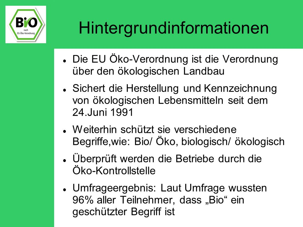 bio trend in deutschland ppt video online herunterladen. Black Bedroom Furniture Sets. Home Design Ideas