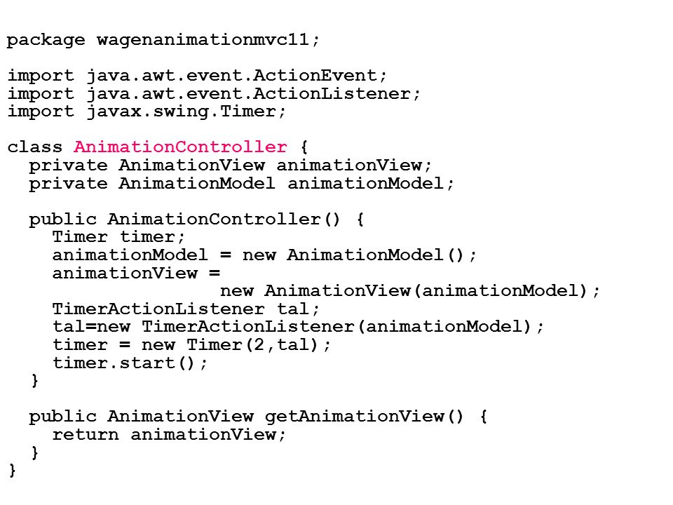 package wagenanimationmvc11;