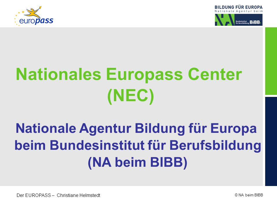 Nationales Europass Center (NEC)
