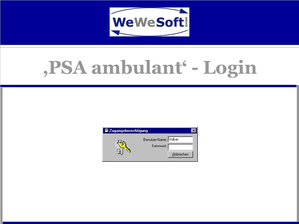 'PSA ambulant' - Login