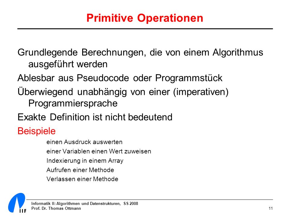 Primitive Operationen