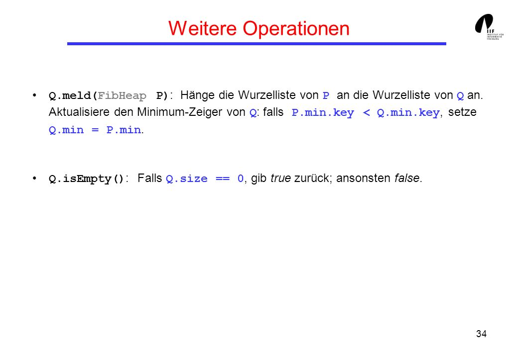 Weitere Operationen