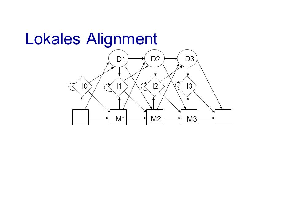 Lokales Alignment D1 D2 D3 l0 l1 l2 l3 M1 M2 M3