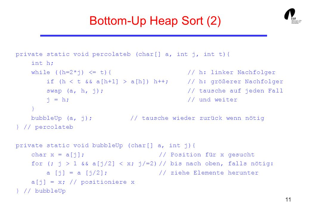 Bottom-Up Heap Sort (2)