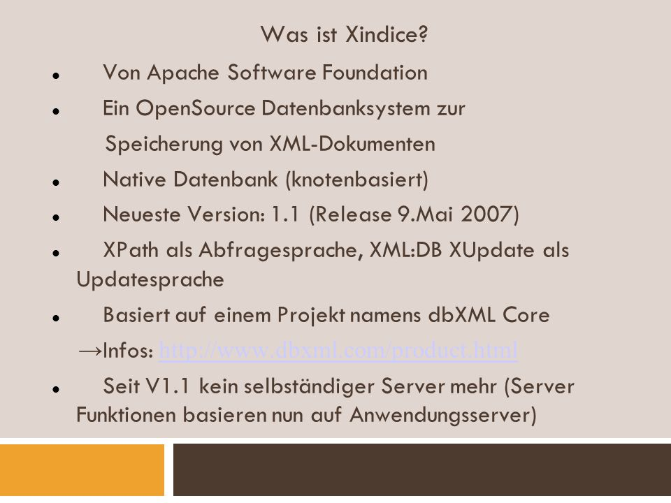 Was ist Xindice Von Apache Software Foundation