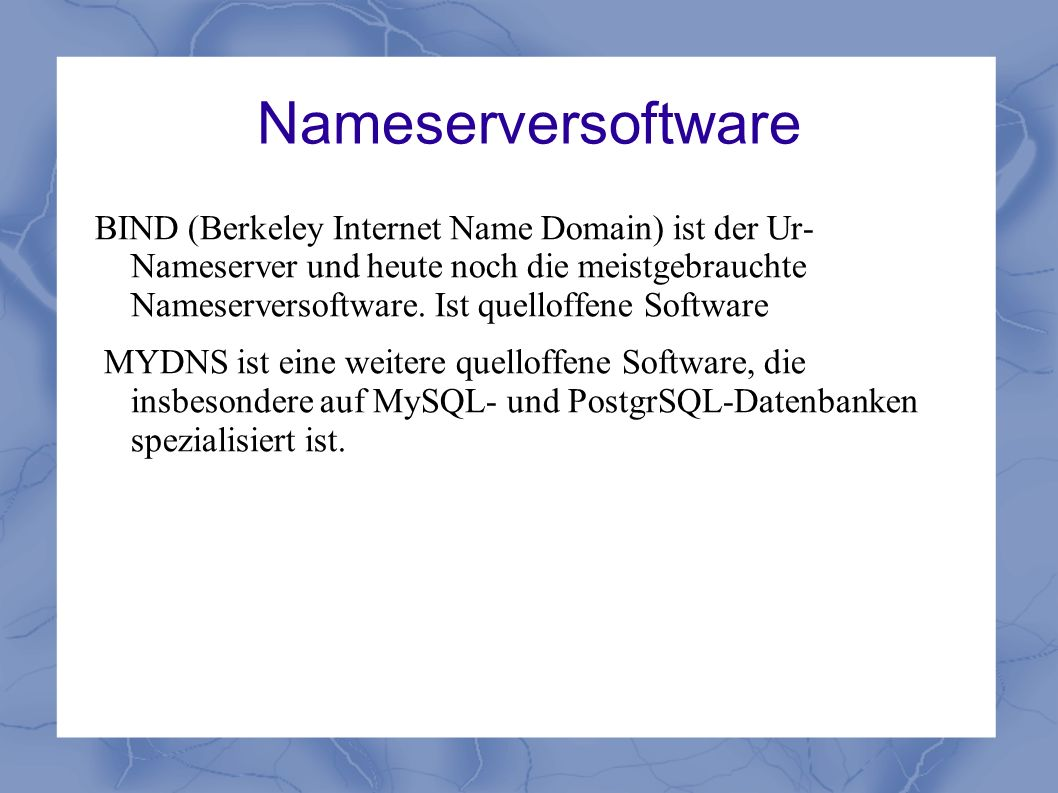 Nameserversoftware