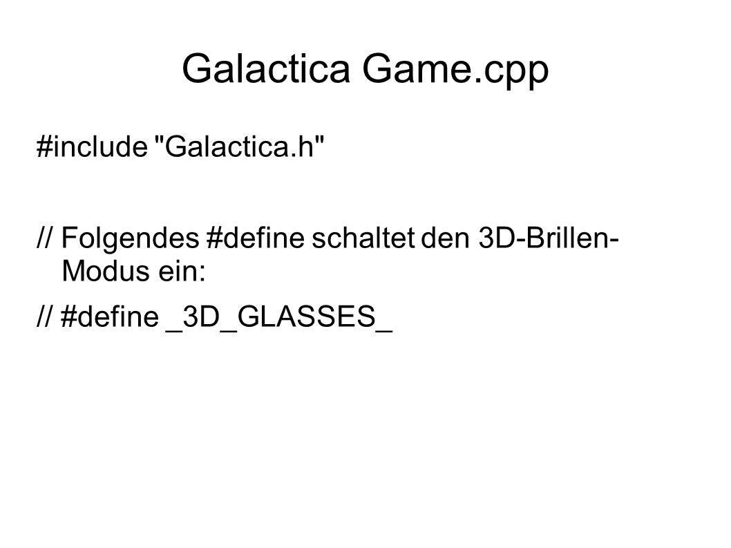 Galactica Game.cpp #include Galactica.h