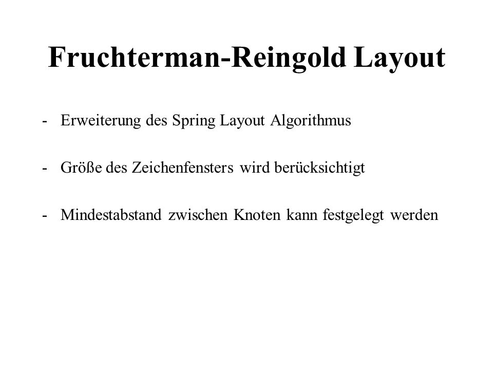 Fruchterman-Reingold Layout