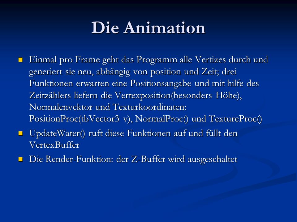 Die Animation