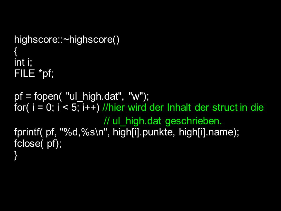 highscore::~highscore()‏