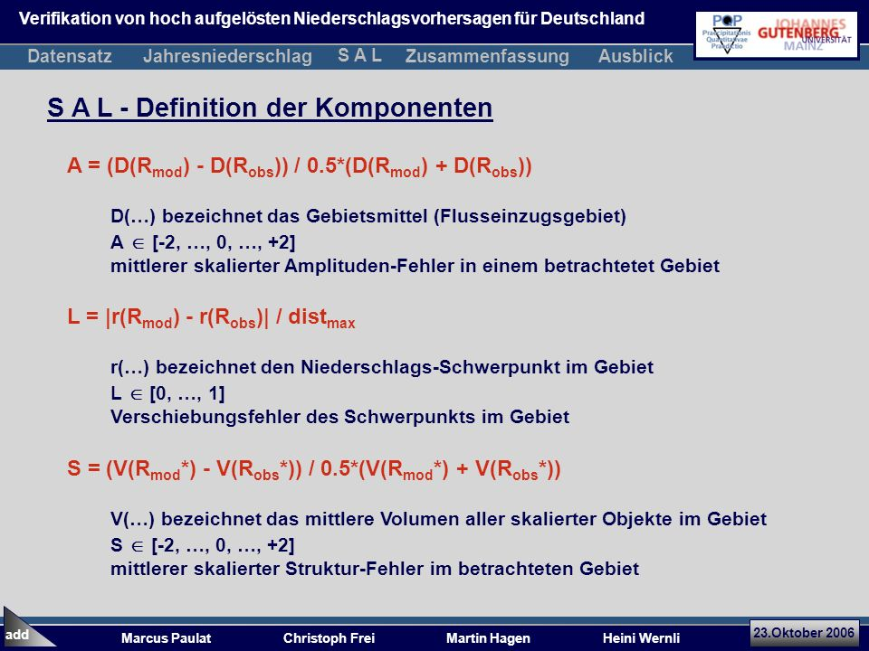 S A L - Definition der Komponenten