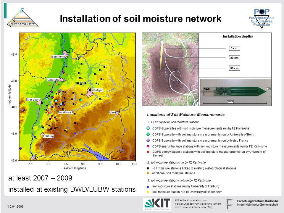 Installation of soil moisture network