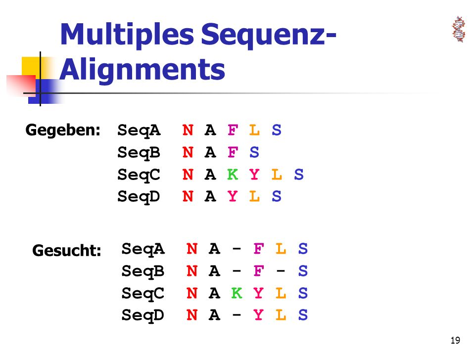 Multiples Sequenz-Alignments