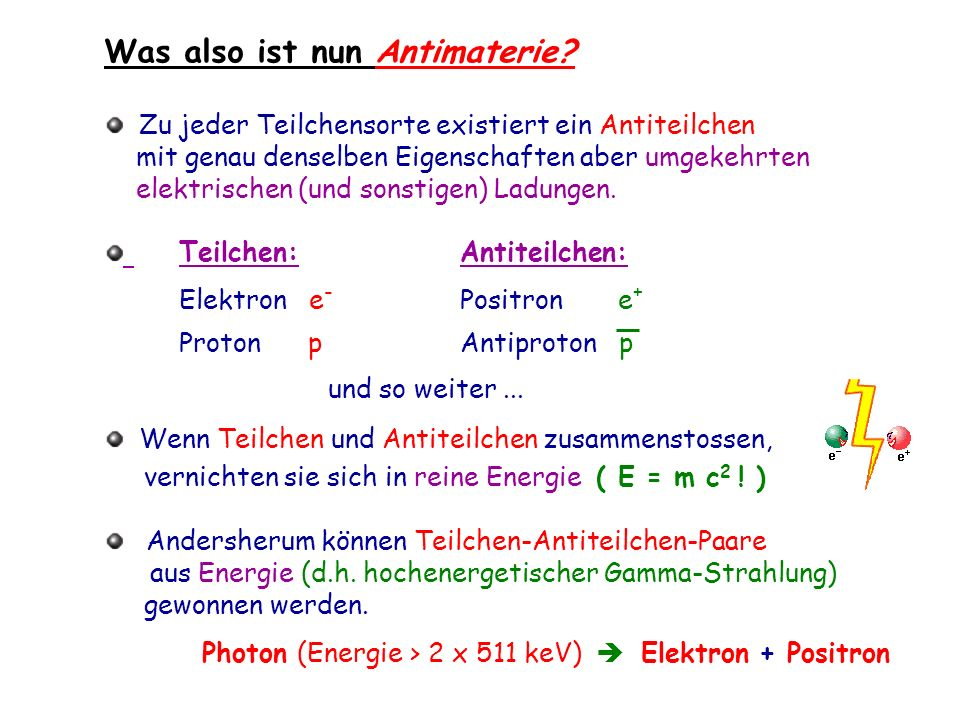Was also ist nun Antimaterie