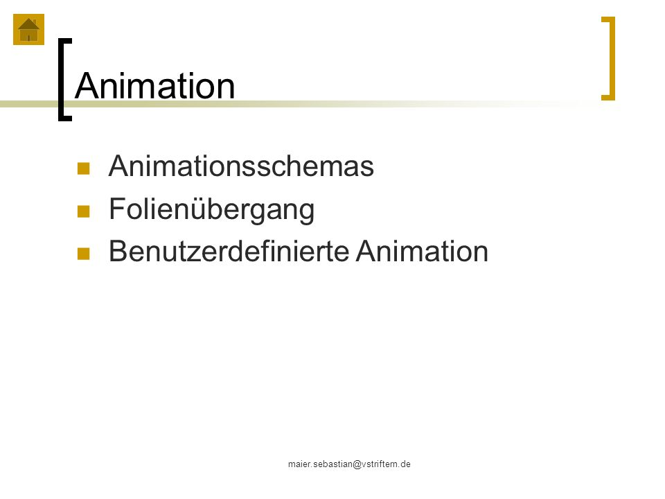Animation Animationsschemas Folienübergang