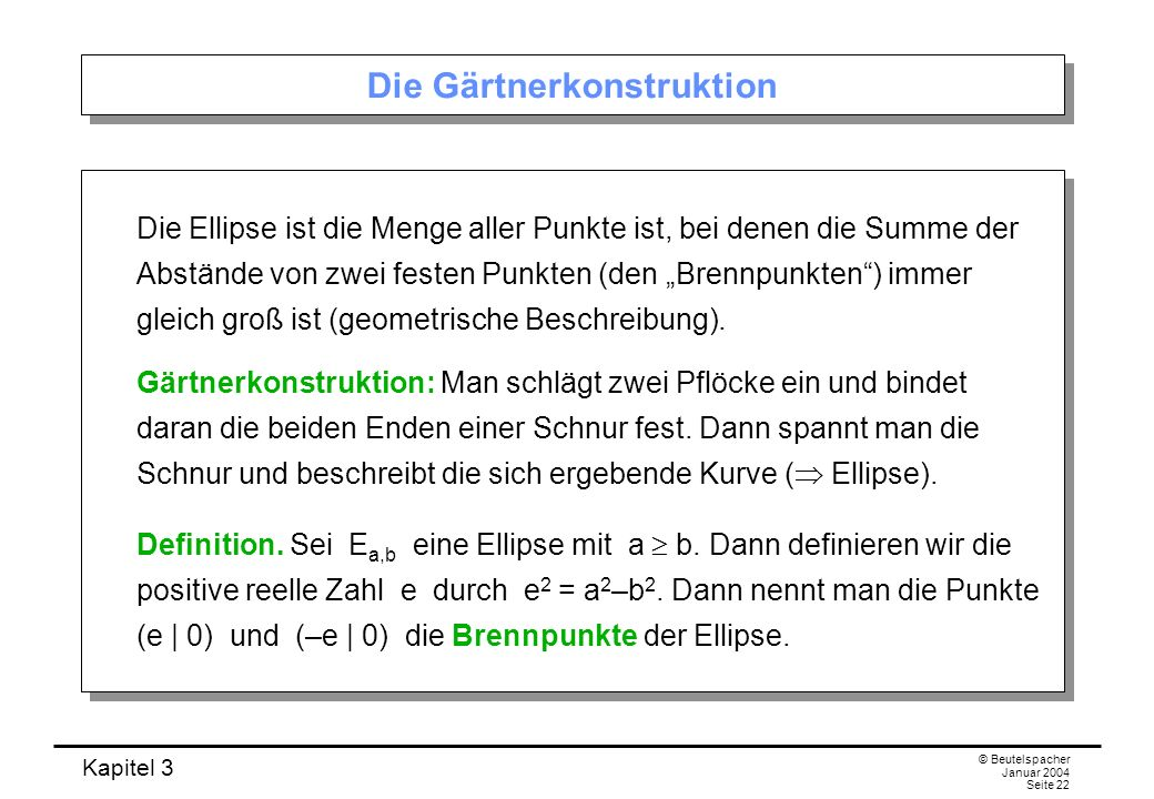Die Gärtnerkonstruktion