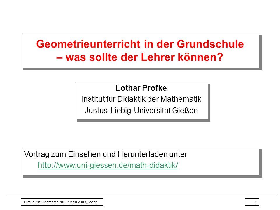 Geometrieunterricht in der Grundschule – was sollte der Lehrer ...