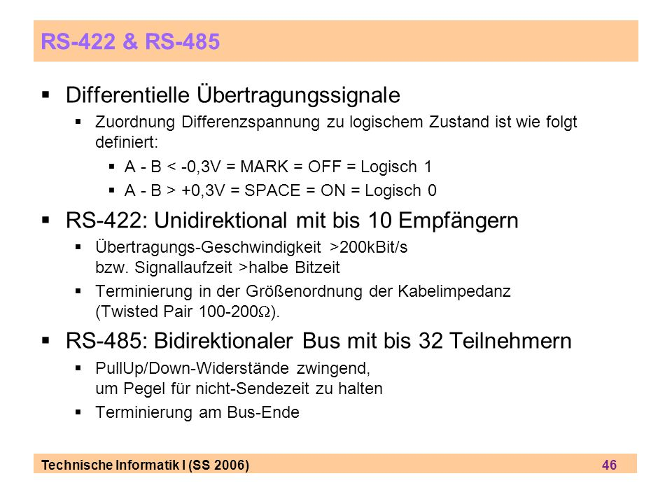 Differentielle Übertragungssignale