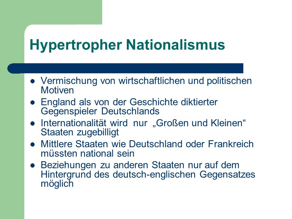 Hypertropher Nationalismus