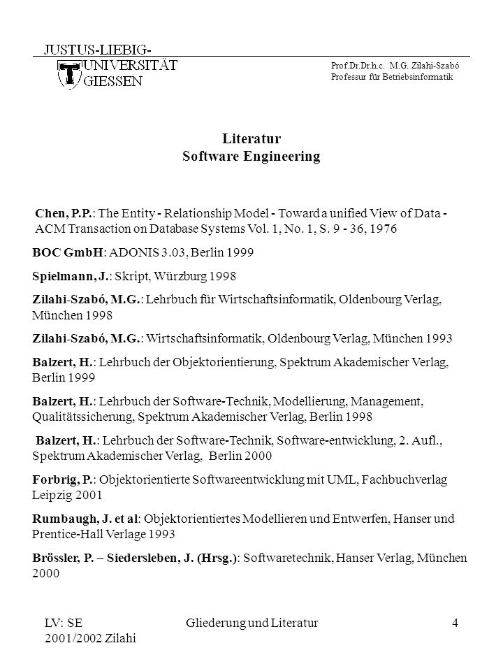 Literatur Software Engineering