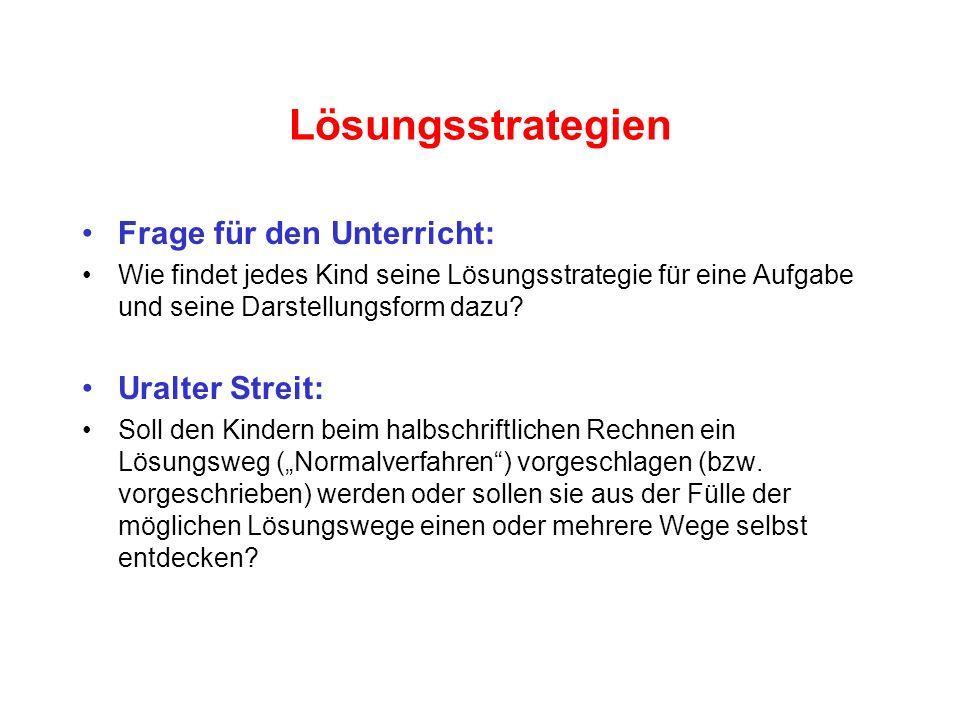 3.3 Lösungsstrategien für mündliches und halbschriftliches Rechnen ...