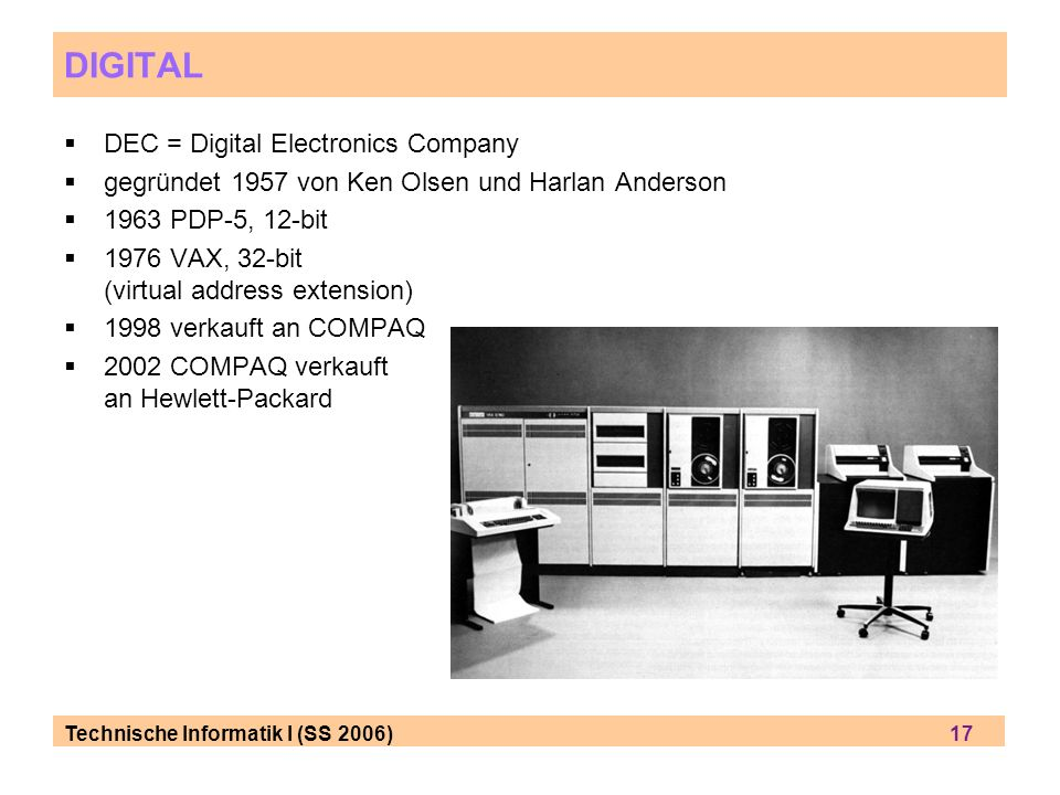 DIGITAL DEC = Digital Electronics Company