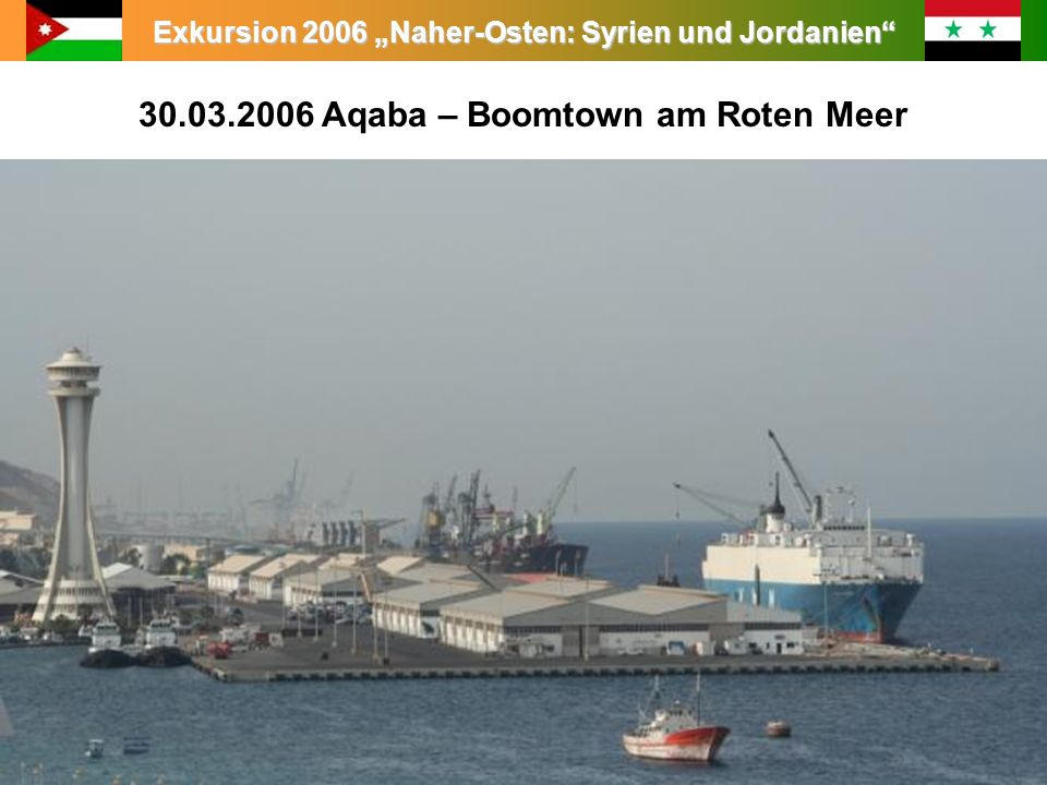 30.03.2006 Aqaba – Boomtown am Roten Meer