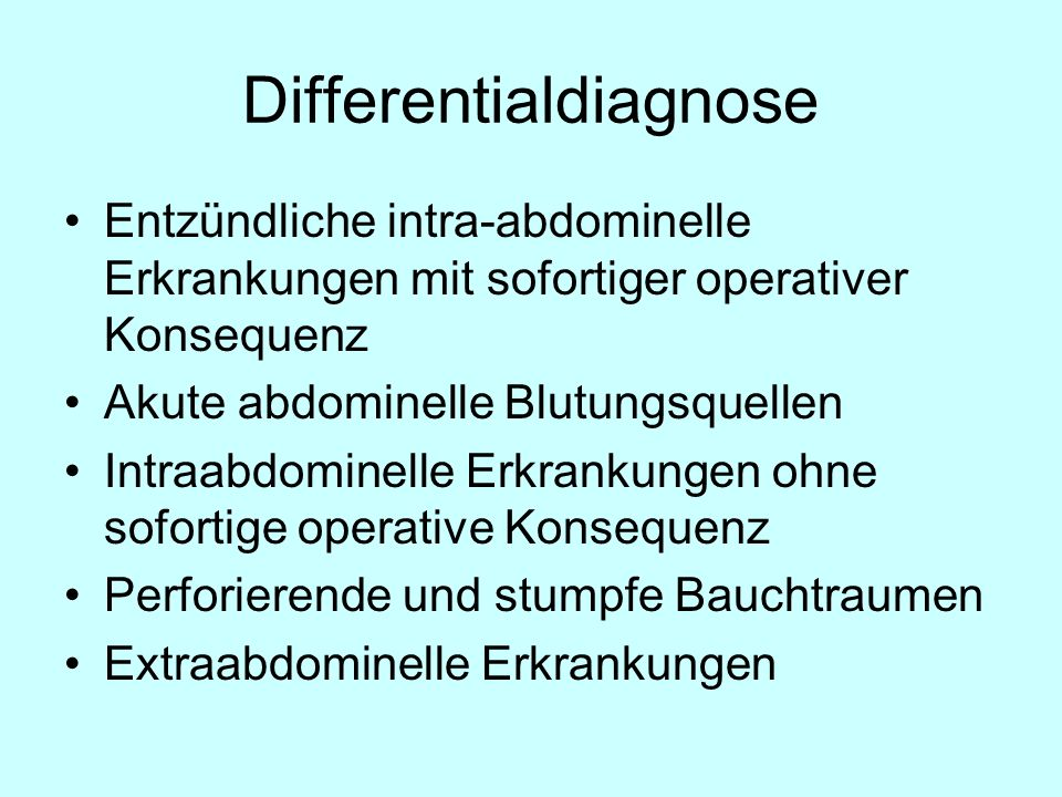 Differentialdiagnose