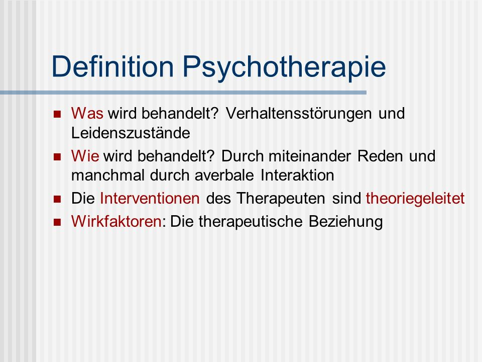 Definition Psychotherapie
