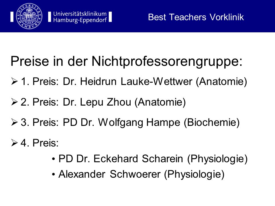 Best Teachers Vorklinik