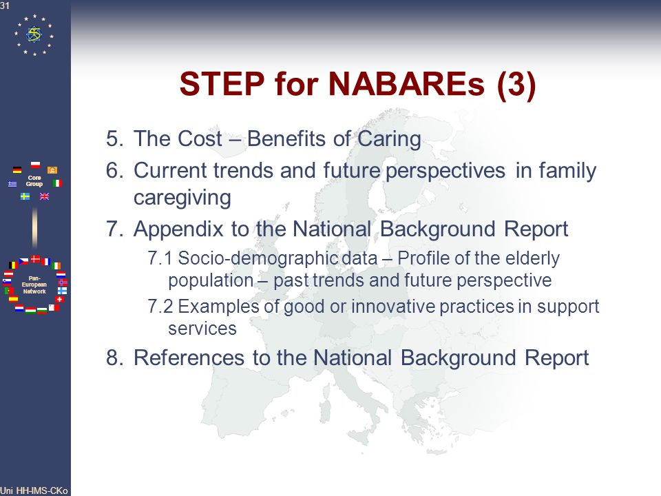 STEP for NABAREs (3) 5. The Cost – Benefits of Caring