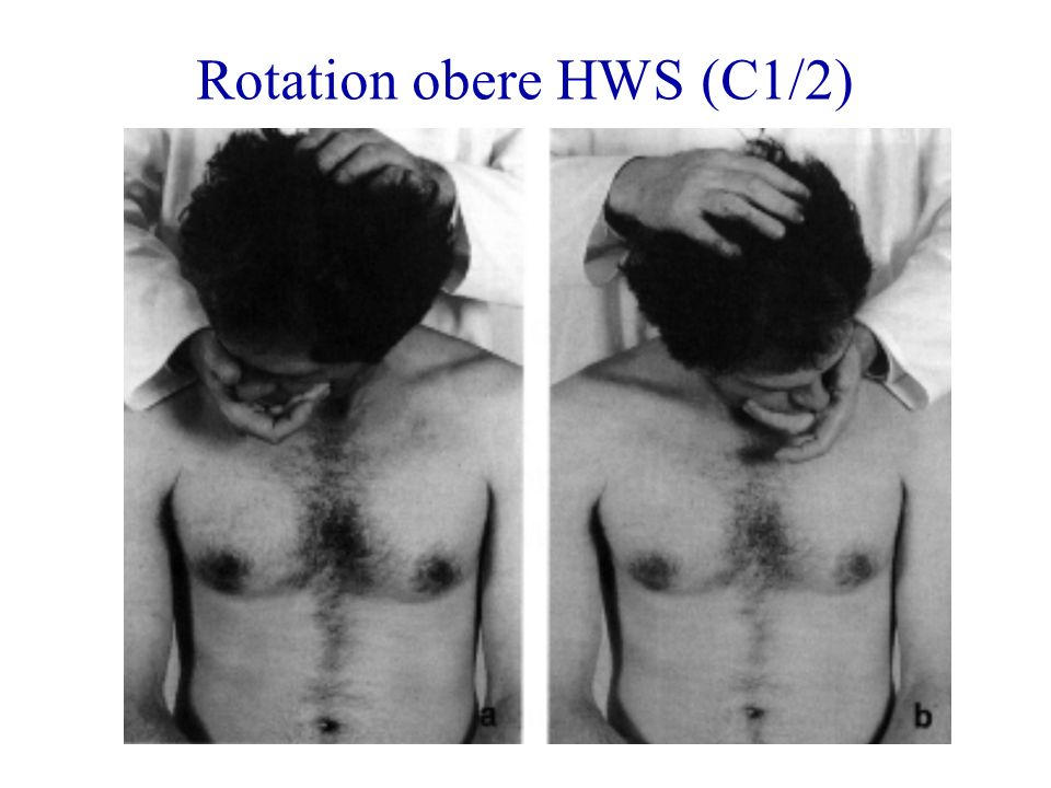 Rotation obere HWS (C1/2)