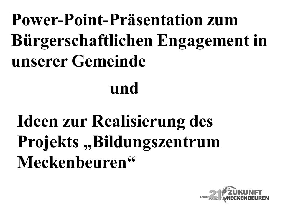 Power-Point-Präsentation zum