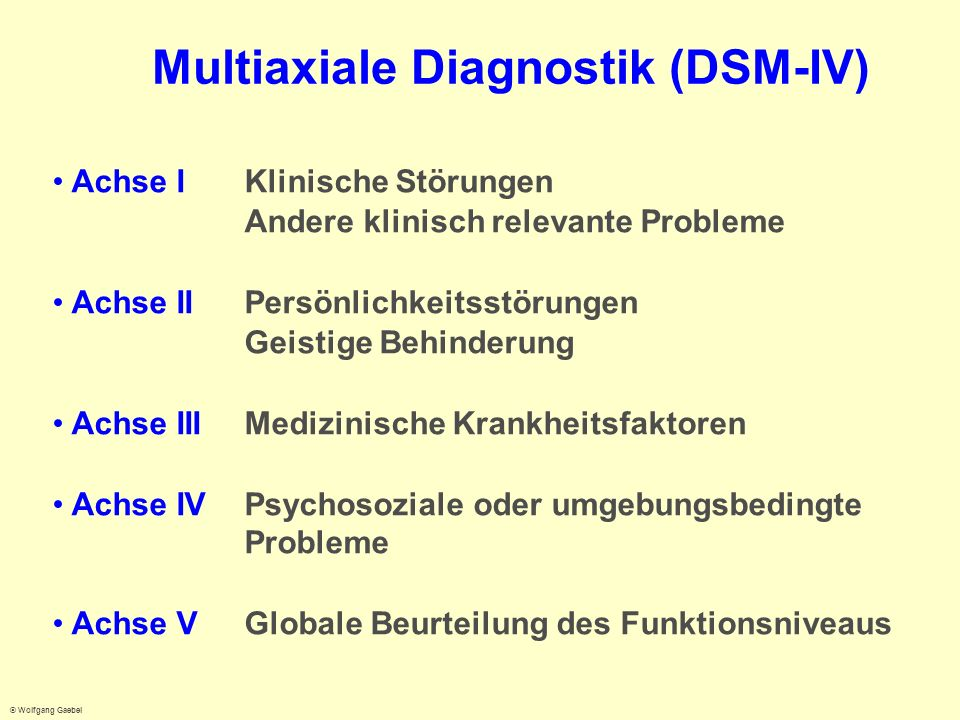 Multiaxiale Diagnostik (DSM-IV)