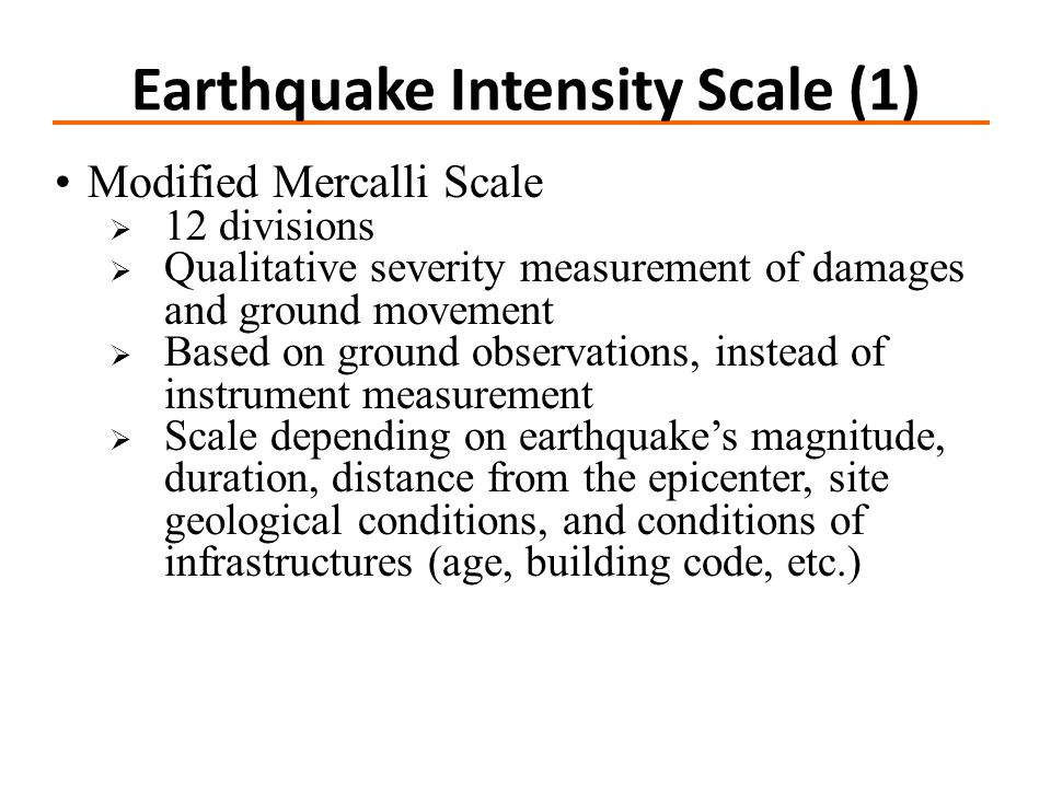 Earthquake Intensity Scale (1)