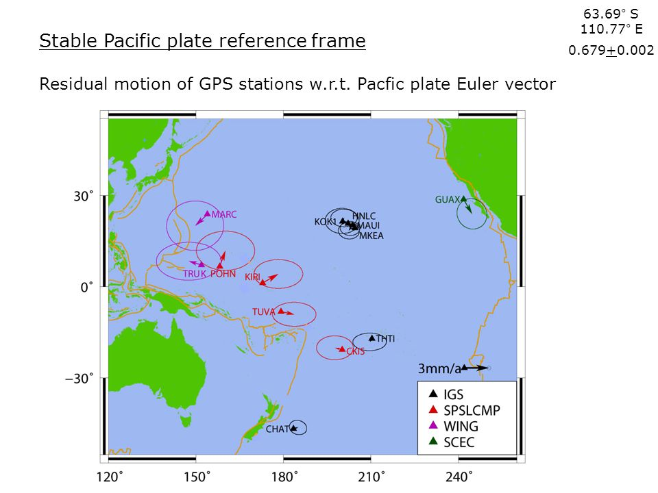 Stable Pacific plate reference frame