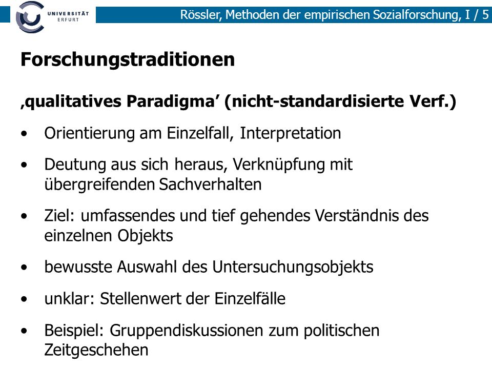 Forschungstraditionen