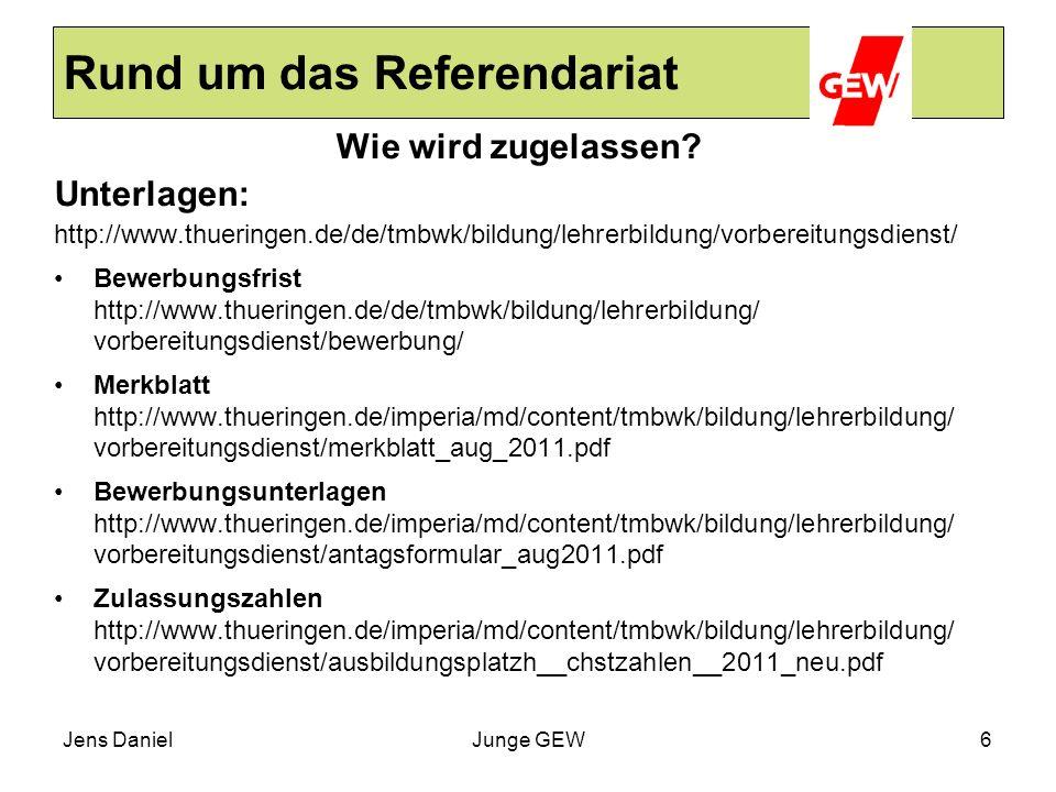 rund um das referendariat - Bewerbung Referendariat