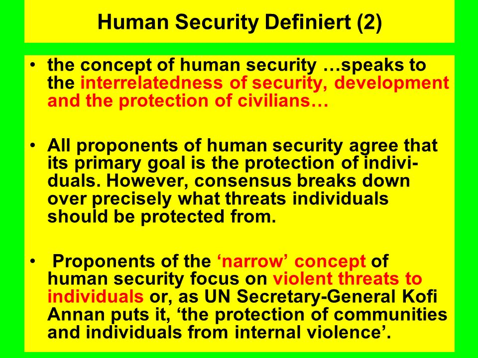 Human Security Definiert (2)