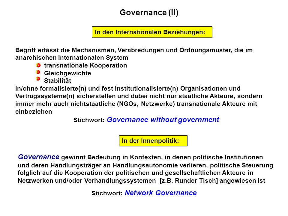 Stichwort: Governance without government