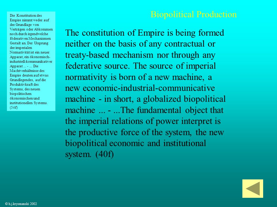 Biopolitical Production