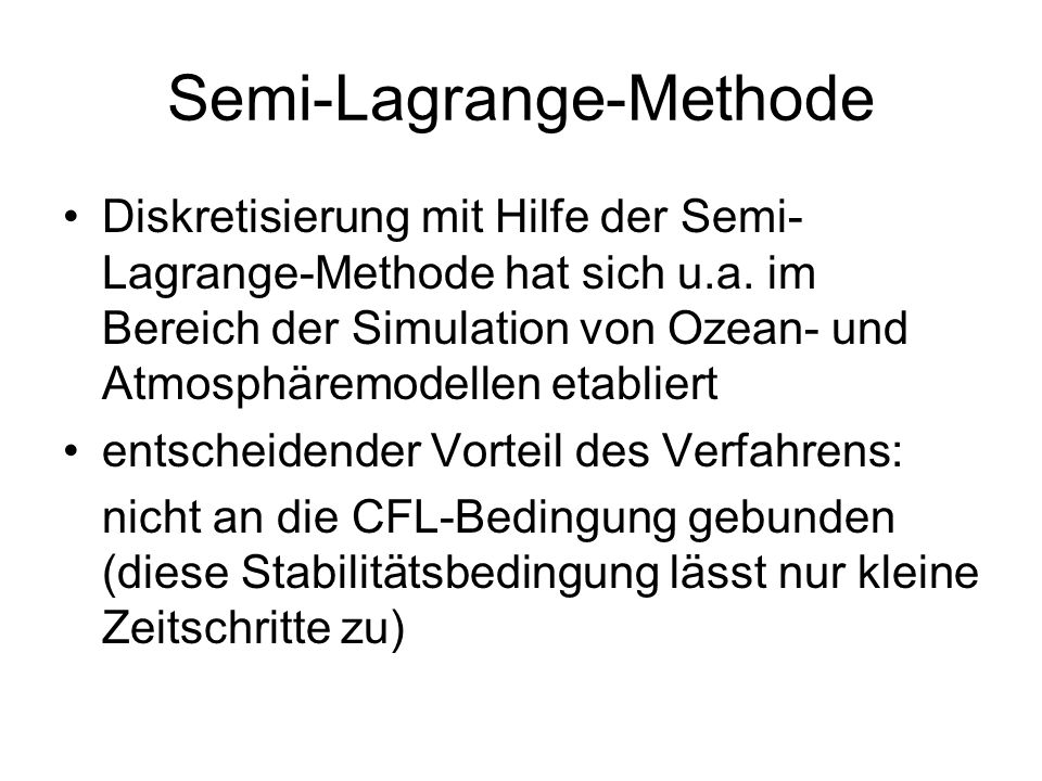 Semi-Lagrange-Methode