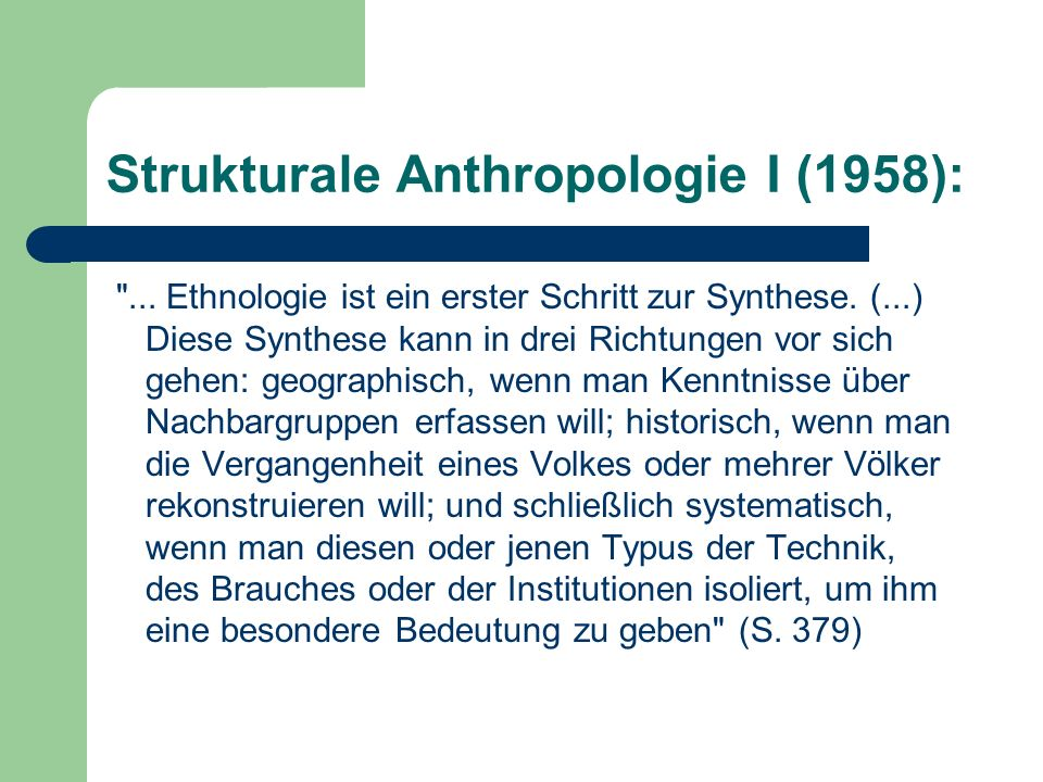 Strukturale Anthropologie I (1958):