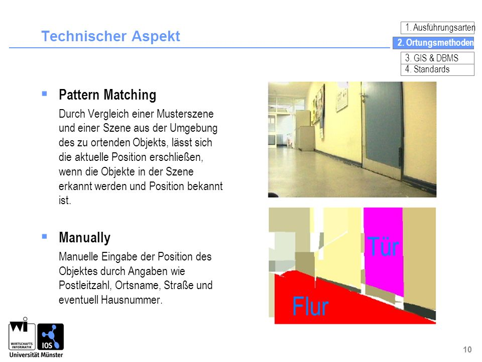 Technischer Aspekt Pattern Matching Manually
